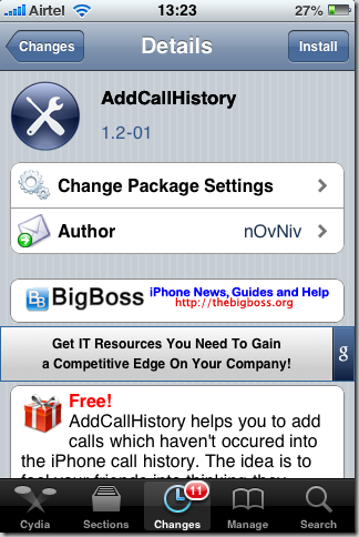 Add A Fake Entry Under Recent Missed Calls On Your iPhone