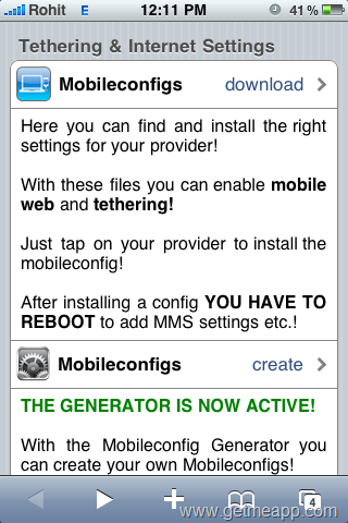 Enable iPhone Tethering For Any Mobile Network In Any