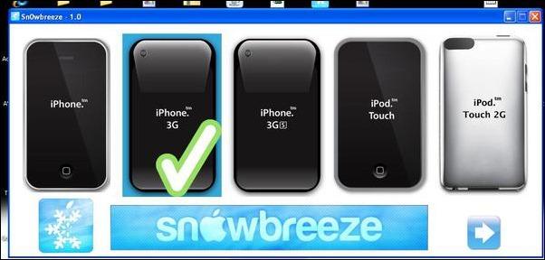 Jailbreak iphone 2g 3g 3gs os 3. 1. 2 – using sn0wbreeze.